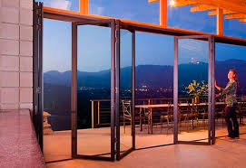 sliding and stacking patio door folding aluminum double glazed sl45
