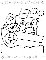 Sinterklaas Is Jarig Kleurplaat Kids Corner 12 December