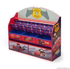 Lightning Mcqueen Bedroom Disney Themed Toddler Bedroom With Cool Cars Book Toy Organizer