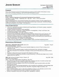Sample Resume Fresh Graduate Chemical Engineering Refrence Sample