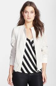 bebe faux leather perforated er jacket