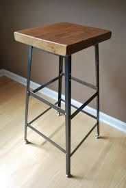 Reclaimed Wood and Steel Industrial Shop Stool. Made in Chicago. Qty (2)