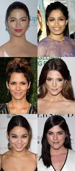 celebrity exles of the diamond face shape