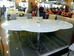 extendable glass dining table and 6 chairs delta mega extending