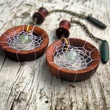 Dream Catcher Tunnels Magnetic Bloodwood Tunnels with DreamCatcher Dangle Chains Sizes 100g 8
