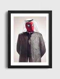 saudi spider man art frames