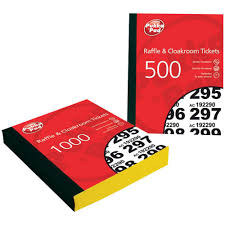 images of raffle tickets pukka pad raffle ticket book 1 1000 6 pack package 6 each