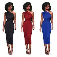 <b>MAYFULL Sexy Strapless</b> Empire One Shoulder Sleeveless Dress ...