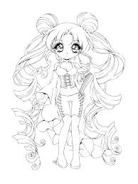Cute Anime Coloring Pages To Print Cute Chibi Coloring Pages Great