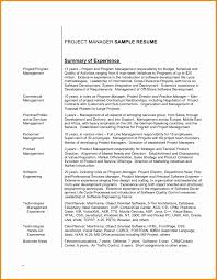 Sample Resume Summary Statement Resume Summary Statement Example Luxury Sample Resume Profile 25