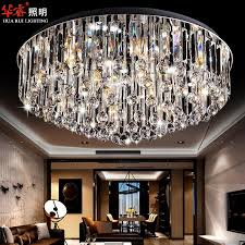 modern circular crystal surface flush mount ceiling lamp stainless steel crystal fashion light fixtures for ceilings modern light covers chandelier lamp
