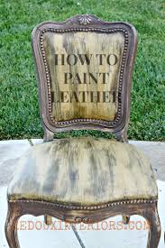 Paint and Crackle old Leather Chairs. CeCe Caldwell's Virginia Chestnut and  Omaha Ochre. REDOUXINTERIORS