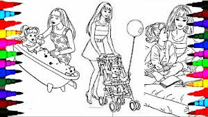Small Picture Coloring Pages BARBIE and CHELSEA Compilation Coloring Videos For