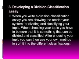composition nine pattern of essay development 19 8 developing a division classification essay