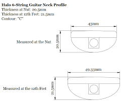 Guitar Nut Size Chart Anatomy Of A Halo Guitar Neck