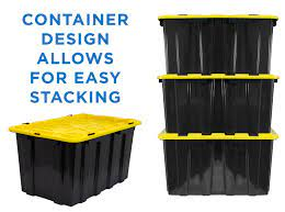 From rugged stack and hang also as part of quantum storage systems product line we offer the largest selection of: Heavy Duty Plastic Storage Bins Set Of 3 Wi 3001 Mount It