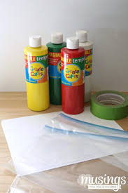 mess free finger paint supplies