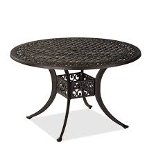 san marco 48 inch round cast aluminum table