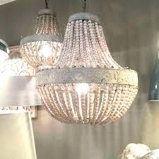 archaicawful amelia indoor outdoor wood bead chandelier picture design