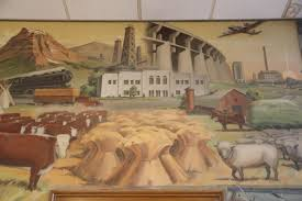another landmark featured in the mural is the glasgow civic center part of the larger effort to create community institutions in the face of the often