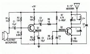 build a 9v wireless microphone fm transmitter schematic rise