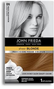John Frieda Precision Foam Color Chart Precision Foam Colour Color Foam John Friedaa