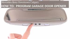 mercedes benz garage door opener program door opener downtown calgary