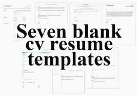 Free Resume Templates To Print Resume Letter Collection Printable