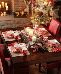 Kitchen Table Settings Cheap Christmas Table Settings 34 Gorgeous Christmas Tablescapes