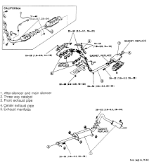 Fig 13 exploded view of exhaust system ponents 3 0l engine