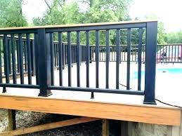 Metal deck railing ideas Railing Systems Metal Tactacco Metal Deck Railing Ideas Tactacco