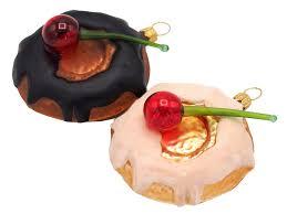 2x Donut Kuchen Christbaumschmuck Baumschmuck Weihnachten