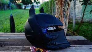 custom batman arkham knight real motorcycle helmet support