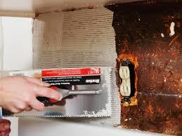 step 3 apply mastic adhesive to wall