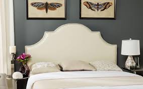 art deco headboard hallmar white leather headboard silver nail head  headboards . art deco headboard ...