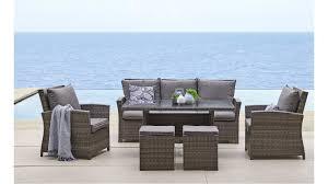 malta 6 piece outdoor lounge dining