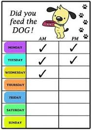 Did You Feed The Dog Chart