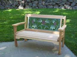 Red Cedar Garden Bench made by Wood Country