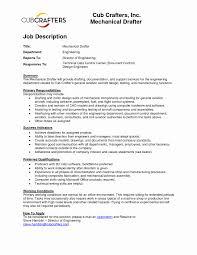 Drafter Job Description Resume Best of Design Drafter Cover Letter Sarahepps