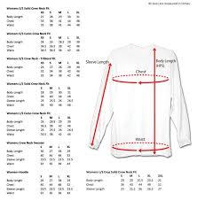 Sleeve Chart Size Charts
