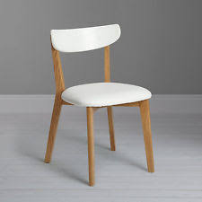 surprising john lewis dining room chairs 2 x house by clio white oak ebay pair of