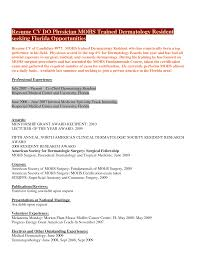 100 Medical Doctor Curriculum Vitae Template 100 Cv