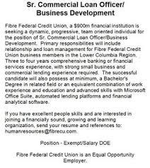 Sr Commercial Loan Officer Business Development The