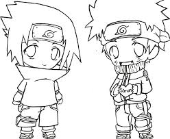 Small Picture And Sasuke Coloring Pages