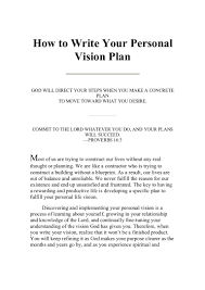 personal mission statement for resume examples cipanewsletter writing your personal vision plan