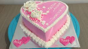 Simple Love Cake Pink Decorating Youtube