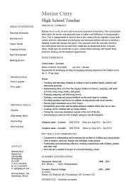 Cv Format For Teaching Cv Format For Physics Teacher