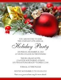 Company Christmas Party Invites Templates Company Holiday Party Invitation Templates Free Employee