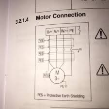 wiring how to wire 3 phase motor to vfd electrical engineering 480 Volt 6 Lead Motor motor wiring diagram from vfd manual