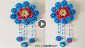 how to make an awesome wall hanging out of papers